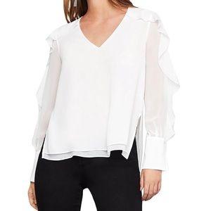 🆕 BCBGMaxAzria sheer blouse